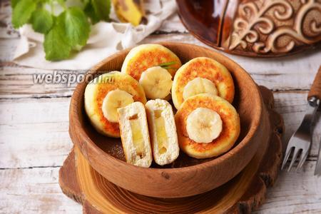 Творожники с бананом