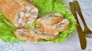 Фото рецепта Запечённый куриный рулет с паприкой