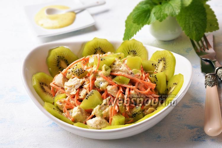 Фото Куриный салат с киви