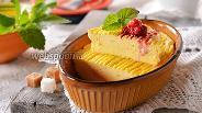 Фото рецепта Творожная запеканка с рисовой мукой