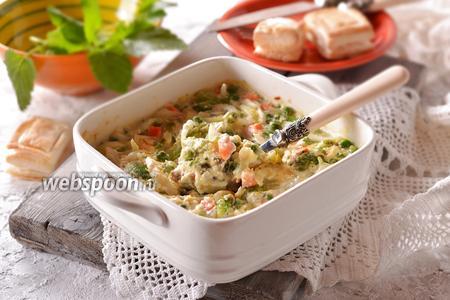 Овощная смесь под сырным соусом