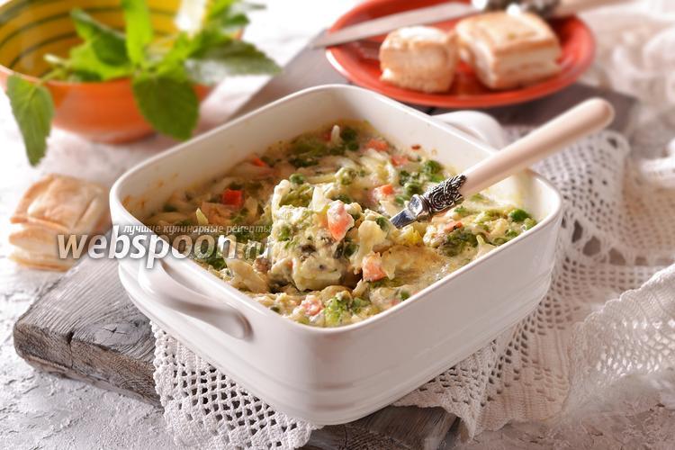 Фото Овощная смесь под сырным соусом