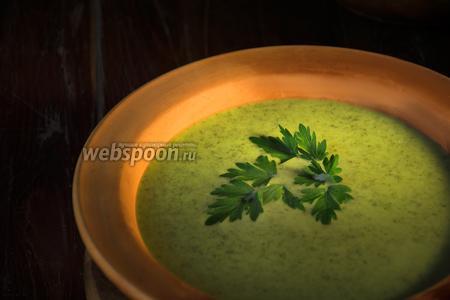 Суп из ботвы редиса готов! Приятного аппетита!