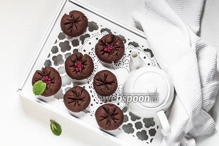 Постное шоколадно-вишнёвое печенье