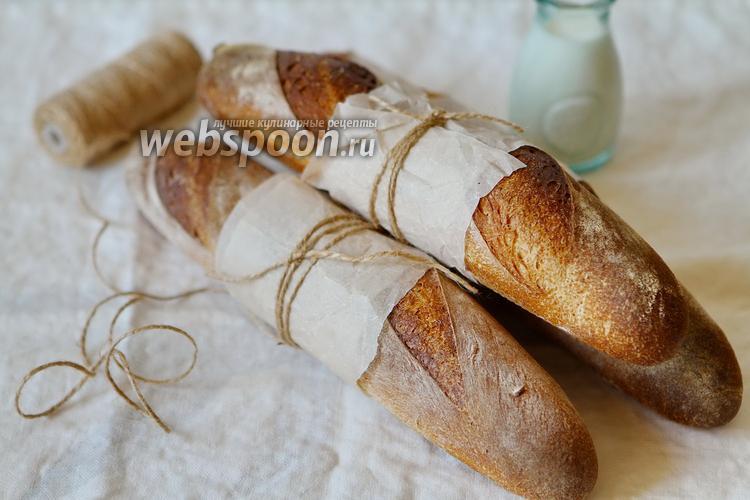 Фото Багет на пшеничной закваске
