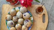 Фото рецепта Маффины с миндалём и чёрной смородиной
