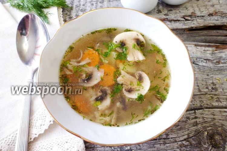 Фото Суп с говядиной и грибами