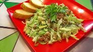 Фото рецепта Салат с молодой капустой, авокадо и тунцом