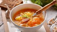 Фото рецепта Гороховый суп с колбасой