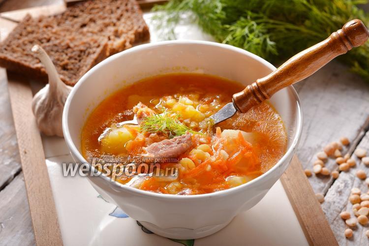 Фото Гороховый суп с колбасой