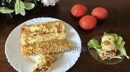 Фото рецепта Омлетные блинчики с курицей