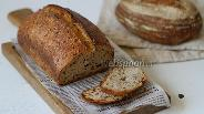Фото рецепта Пшенично-ржаной хлеб на закваске с семенами льна и семечками подсолнуха