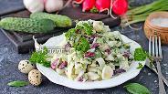 Фото рецепта Салат из молодой капусты с консервированной фасолью