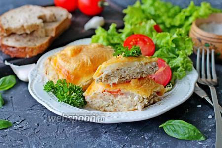 Котлеты в духовке с овощами и сыром