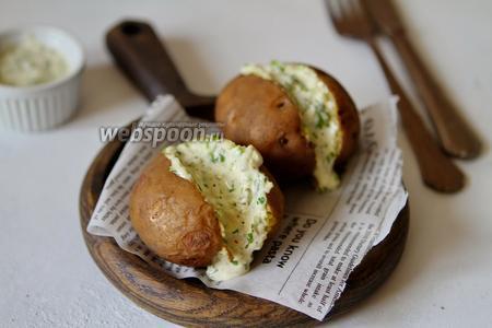 Фото рецепта Запечённый картофель с соусом тартар