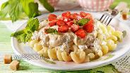 Фото рецепта Сладкие макароны с творогом