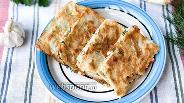 Фото рецепта Восточные гренки с крабовыми палочками