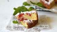 Фото рецепта Пирог с клубникой и миндальными лепестками