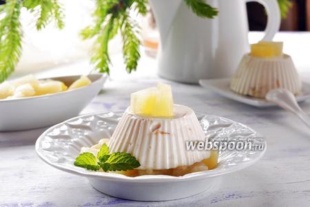 Бланманже с ананасом