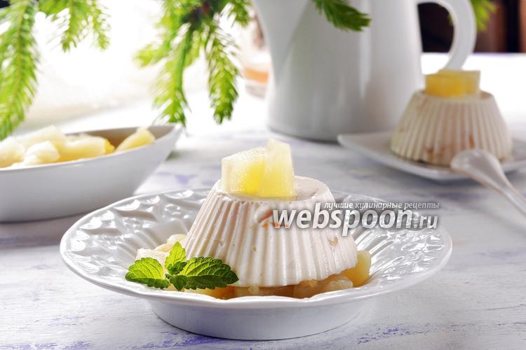 Фото Бланманже с ананасом