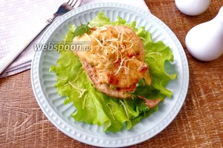 Куриные лодочки с сыром и овощами