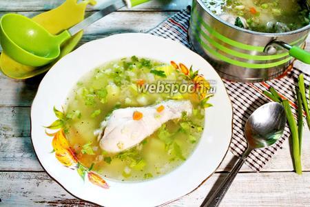 Куриный суп с кабачками и булгуром