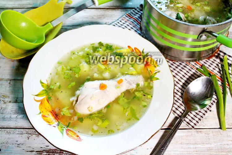 Фото Куриный суп с кабачками и булгуром
