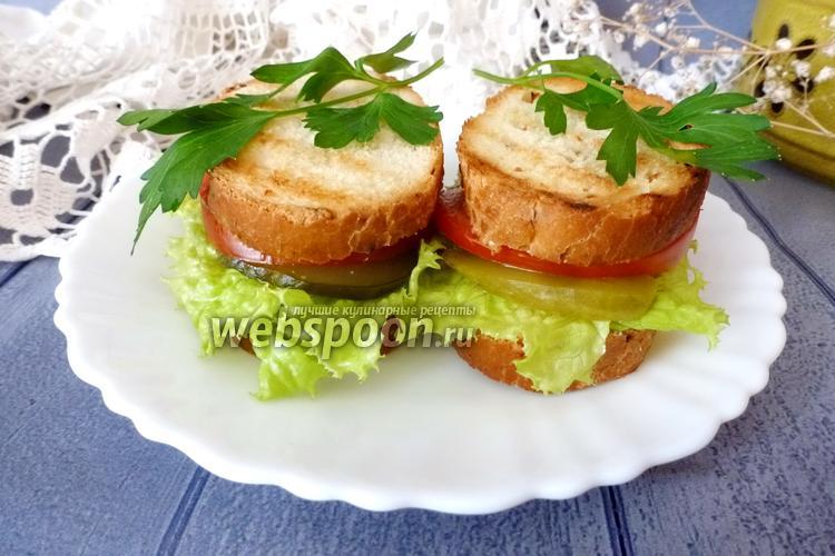 Фото Овощной сэндвич