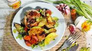 Фото рецепта Курица с баклажанами и кабачками