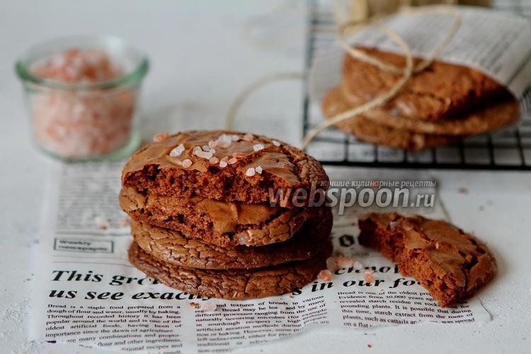 Фото Шоколадное печенье с солью