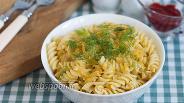 Фото рецепта Макароны с тушёной капустой