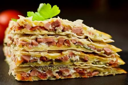 Фото рецепта Завтрак из лаваша. Видео-рецепт