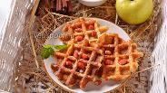 Фото рецепта Яблочные вафли