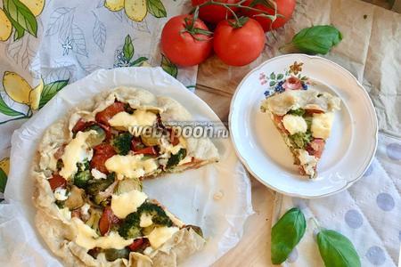 Пирог с овощами и рикоттой