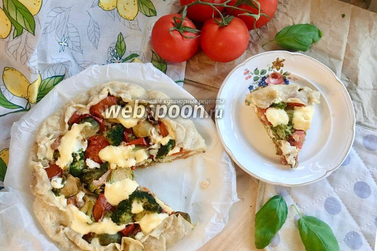 Фото Пирог с овощами и рикоттой