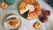 Фото рецепта Чизкейк с персиками