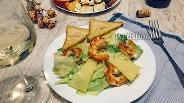 Фото рецепта Салат Цезарь с креветками