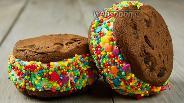 Фото рецепта Сэндвич-мороженое. Видео-рецепт