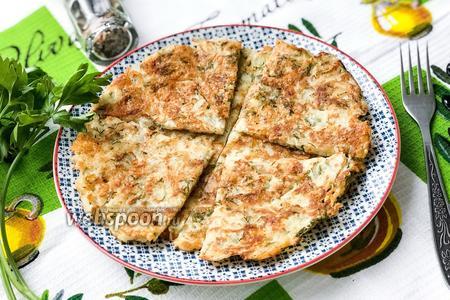 Фото рецепта Картофельно-сырные лепёшки
