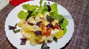 Фото рецепта Молодая картошка с моцареллой в духовке