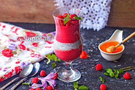 Фото рецепта Малиновый завтрак с семенами чиа