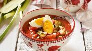 Фото рецепта Окрошка на томатном соке