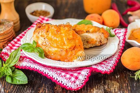 Куриные грудки с абрикосовой глазурью