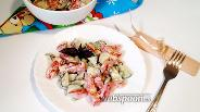 Фото рецепта Овощной салат с майонезно-горчичной заправкой