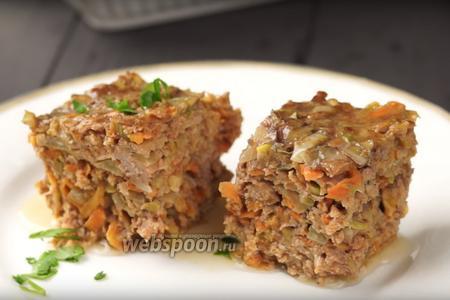 Фото рецепта Ленивая тефтеля с кабачком. Видео-рецепт