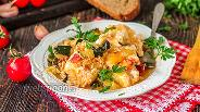 Фото рецепта Яичница с цукини и помидорами