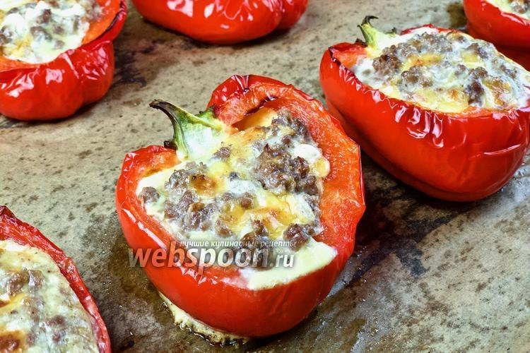 Фото Фаршированные перцы с фаршем и сыром Фета. Видео-рецепт