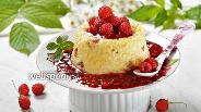 Фото рецепта Малиновый десерт с пшеном