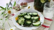 Фото рецепта Малосольные огурцы с соевым соусом и чесноком