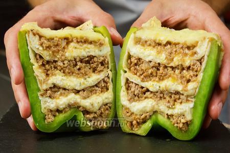 Перцы фаршированные фаршем, сыром и лавашом. Видео-рецепт